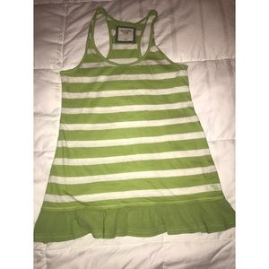 Abercrombie & Fitch Green Striped Tank Top